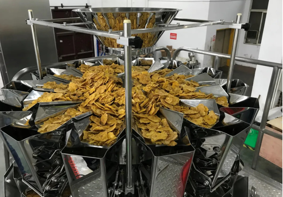 Automatic Banana Chips SS304 2.5L Fruit Multihead Weigher